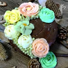 彩虹树根蛋糕