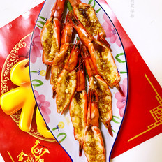 蒜香烤大虾