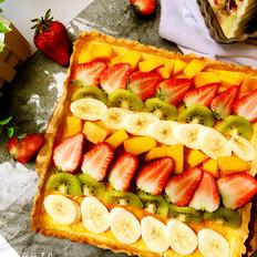 彩虹水果奶酪派