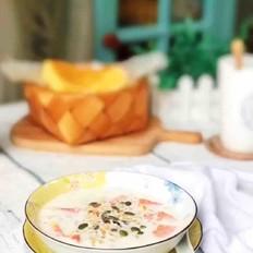 木瓜牛奶燕麦粥