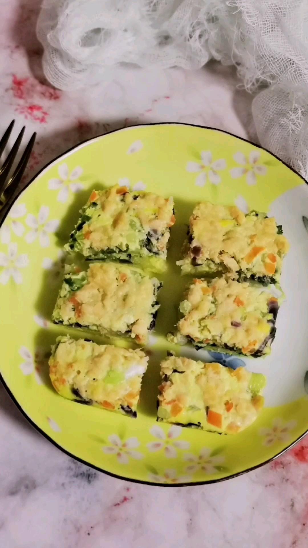 三文鱼鸡蛋米糕的做法大全