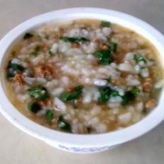 芹菜叶肉沫粥