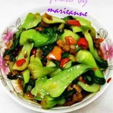 上海青炒肉