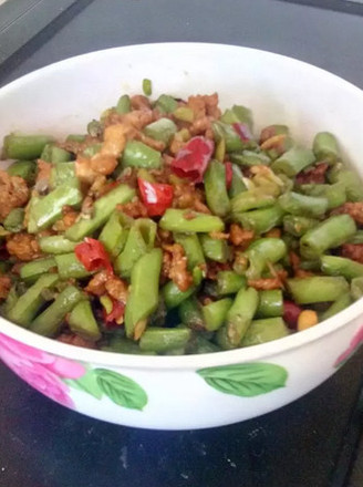 四季豆炒肉沫的做法