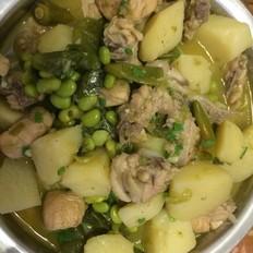青尖椒土豆烧鸡