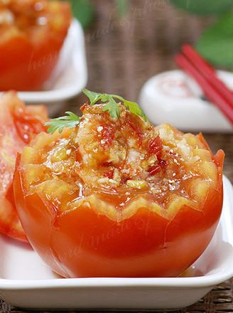 粉蒸番茄虾的做法