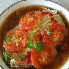 番茄蒸鳕鱼