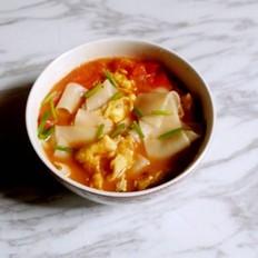 百变饺子皮--番茄面片汤