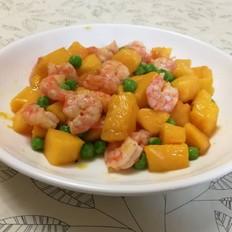 芒果炒虾仁