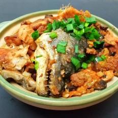 砂锅干烧三文鱼头