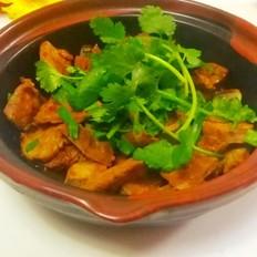 砂锅焗猪肝