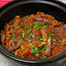 肉末茄子粉丝煲的做法