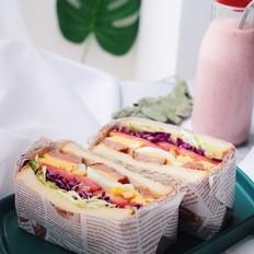 大满足能量三明治套餐