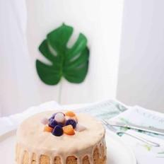 芋圆爆浆奶茶蛋糕