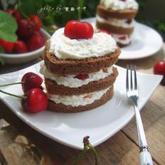 樱桃可可奶油蛋糕