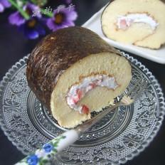紫菜草莓蛋糕卷