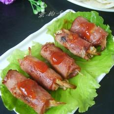 鲜虾金针菇培根卷