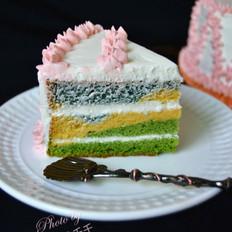 三色奶油蛋糕