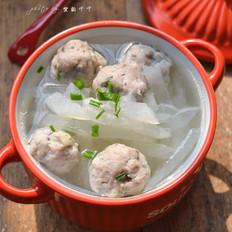 白萝卜鱼丸汤