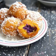 广东椰蓉紫薯南瓜球