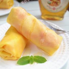 姜汁木瓜可丽饼卷