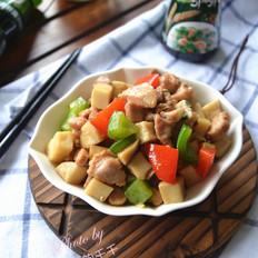 肉丁炒杏鲍菇