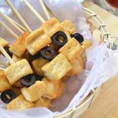 黑橄榄豆腐串