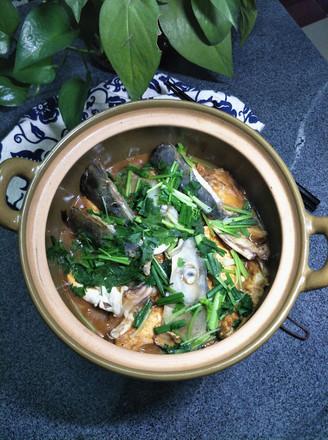 豆腐焖鱼头的做法