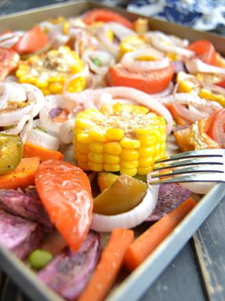 烤杂锦蔬菜的做法