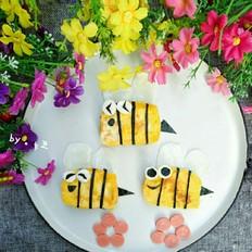 可爱的小蜜蜂馒头片