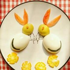 超可爱的小兔子,搞定不吃鸡蛋的娃的做法