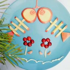 水果DIY给宝宝一条不一样的小鱼的做法