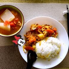 塔吉锅之咖喱鸡饭