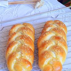 燕麦辫子面包