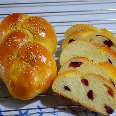 蔓越莓辫子面包