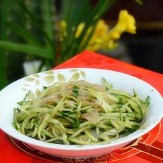 黄瓜丝拌海蜇皮