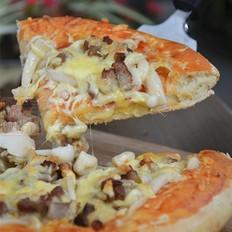 碳烤猪排蘑菇披萨
