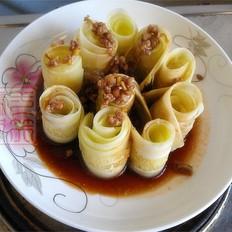 肉末黄瓜卷