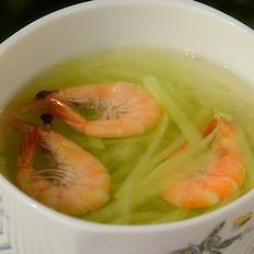 鲜虾青萝卜汤