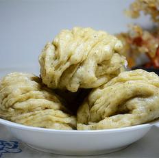 黑芝麻燕麦油盐花卷