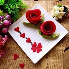 红玫瑰可丽饼