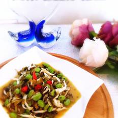 咸菜毛豆炒银鱼