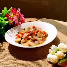 彩蔬炒鸡丁