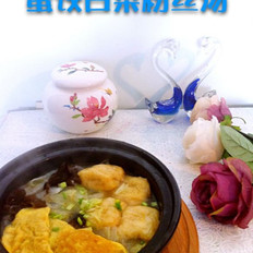 蛋饺白菜粉丝汤