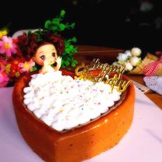 五彩泡澡娃娃蛋糕