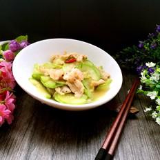 西葫芦炒虾仁肉片