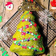 抹茶酸奶圣诞树蛋糕