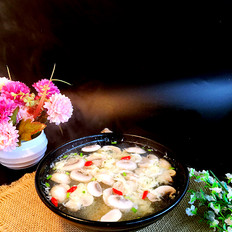 蘑菇蛋花汤