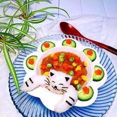 小猫咪咖喱牛肉饭