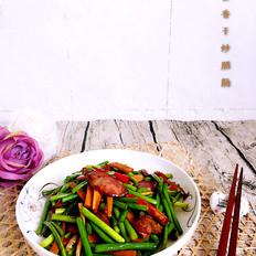 蒜苔香干炒腊肠